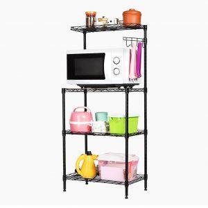 Ahorra espacio en tu cocina con la estantería para horno microondas  LANGRIA c9fb6a1e49cd